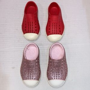 2 Pairs Native Rubber Shoes